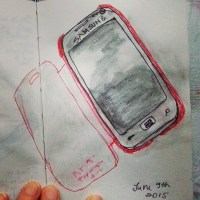 One sketch a day - my cell phone - by Cristina Parus @ creativemag.ro