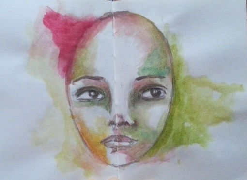 Watercolor Portrait - one sketch a day by Cristina Parus @ creativemag.ro