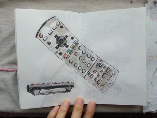 One sketch a day - Remote control  - by Cristina Parus @ creativemag.ro