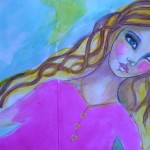 Art journal page – Pink dream