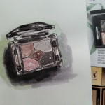 One sketch a day – Watercolor eye shadows