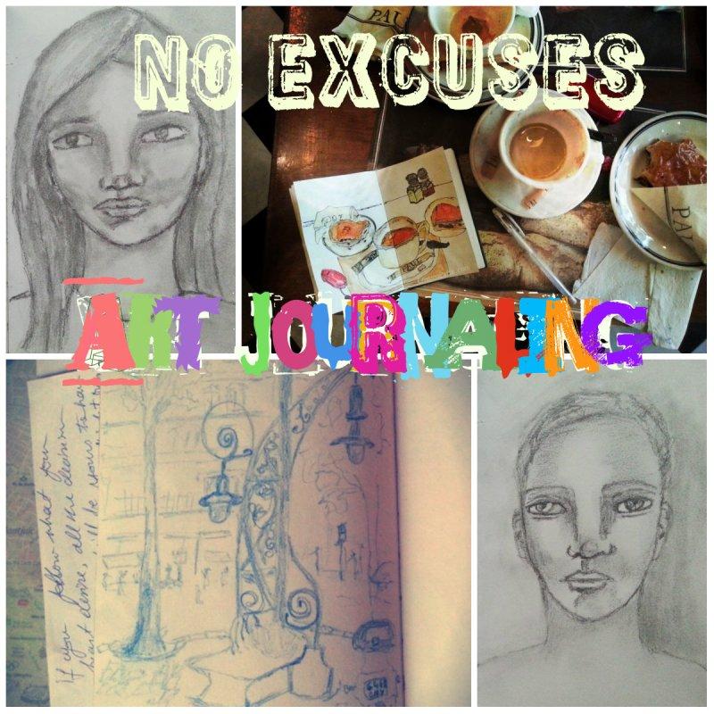 No excuses Art journaling by Cristina Parus @ CreativeMag.ro