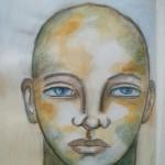 Watercolor portrait – Pam Carriker inspired