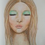 Portrait in colored pencils
