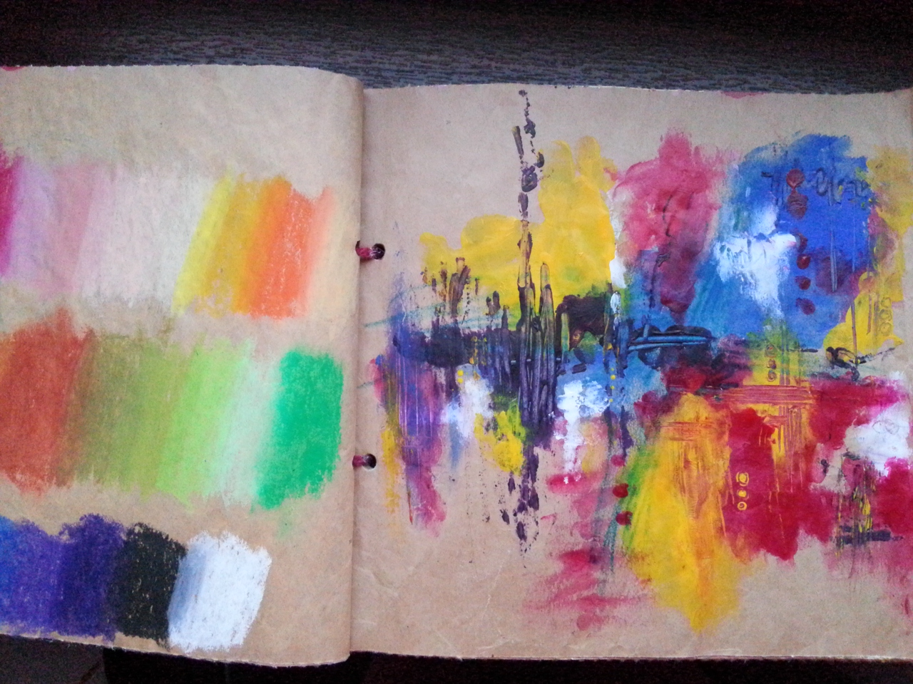 packaging paper abstract art journal page by Cristina Parus @ creativemag.ro