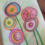 Joyful abstract flowers