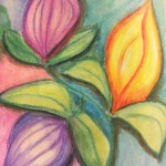 Colorful abstract flowers