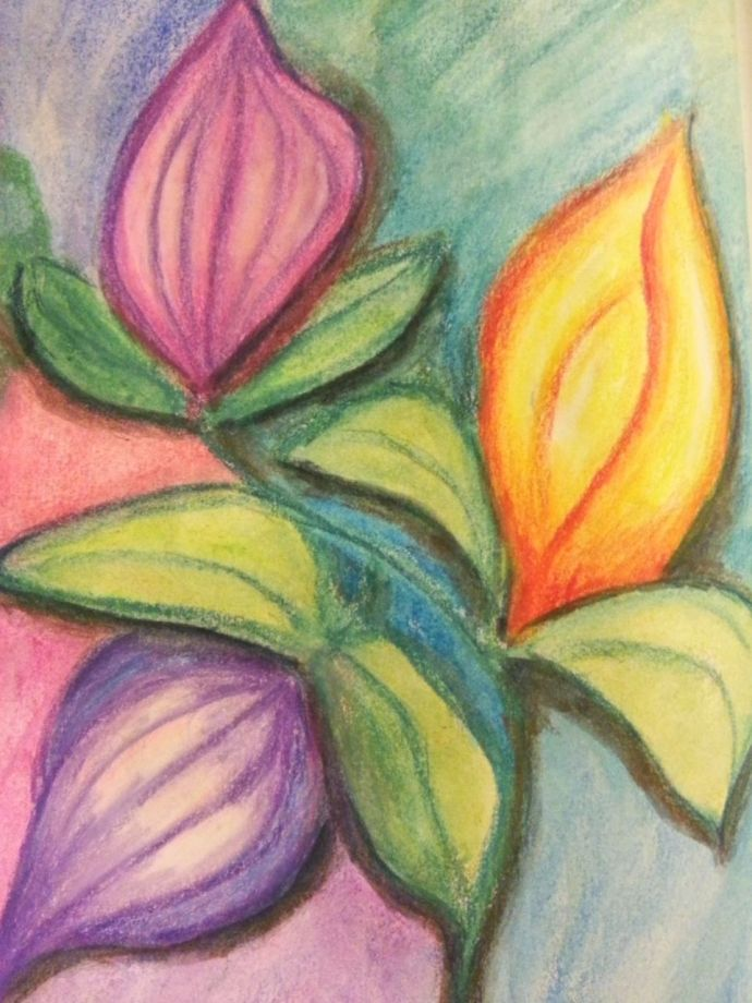 Colorful abstract flowers by Cristina Parus @ creativemag.ro