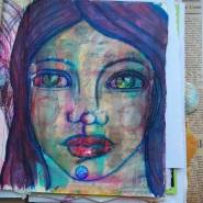 Junk journal face by Cristina Parus @ creativemag.ro