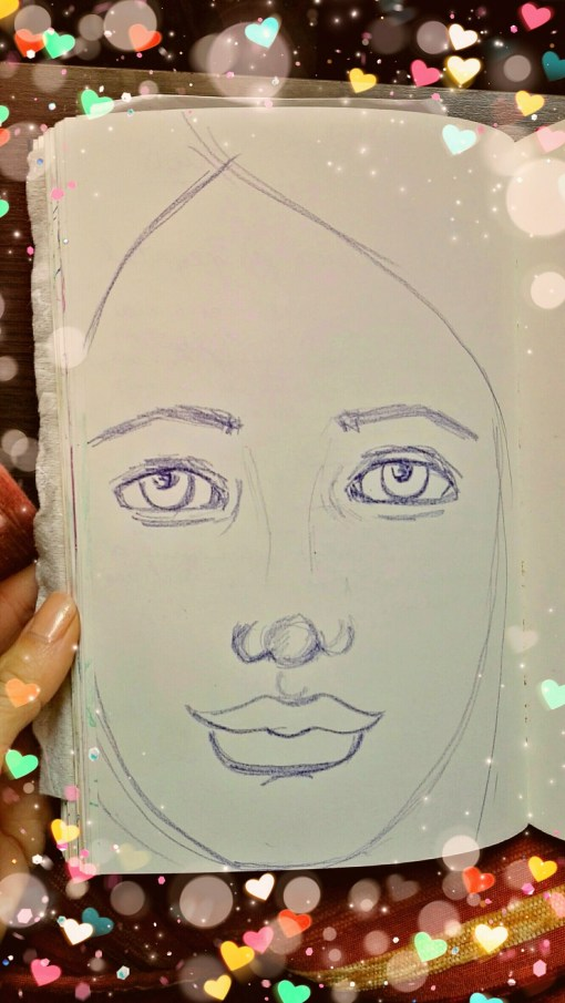 Blue shades sketch