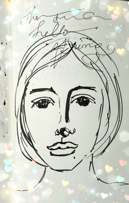 Face sketching with Ikea markers by Cristina Parus @ creativemag.ro