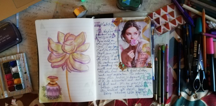 Soul Art Day 2018 Secret Garden journalSoul Art Day 2018 Secret Garden journal
