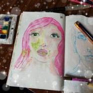 Girl with pink hair by Cristina Parus @ creatovemag.ro