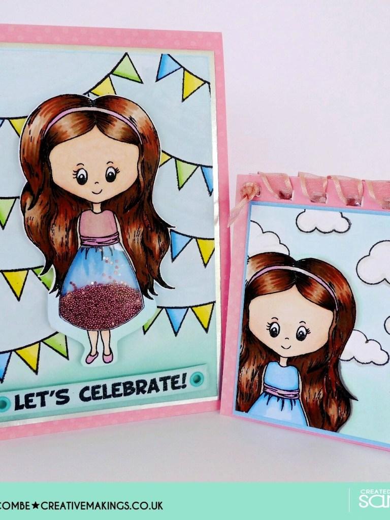 Sarah Hurley Charm Street Cuties Shaker Card