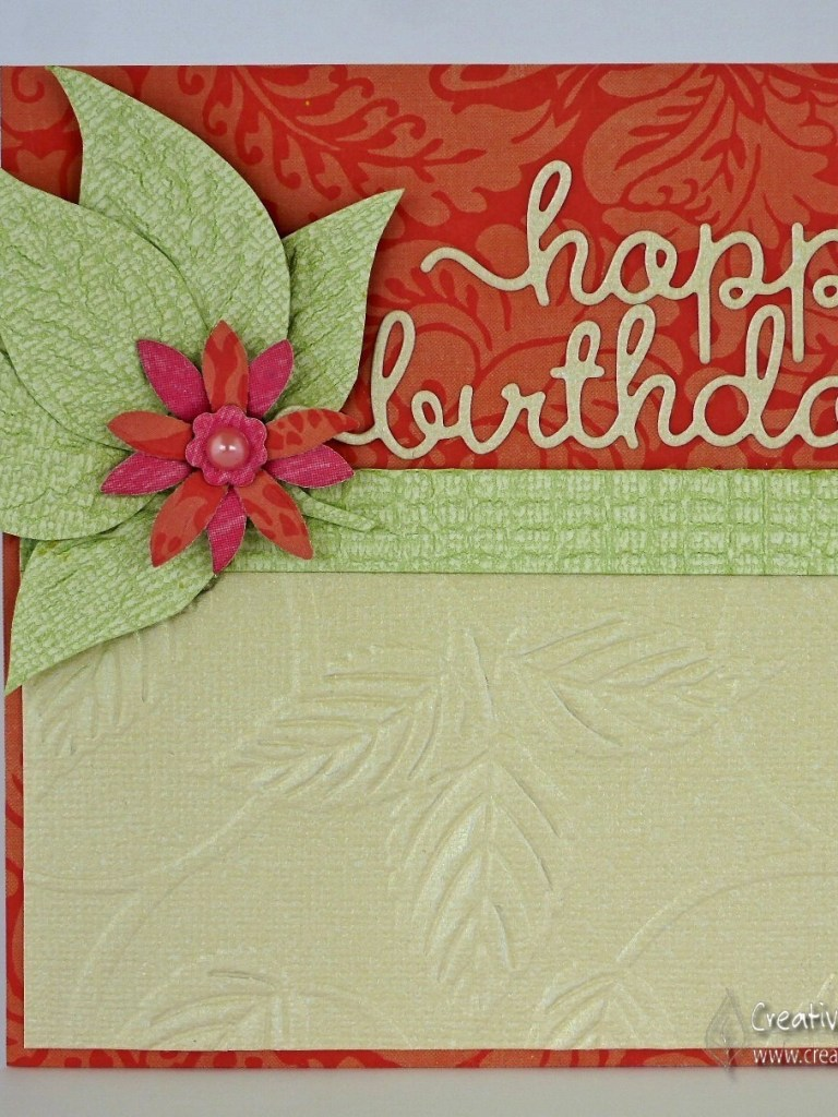 Versatile Embossing Folders – to create a co ordinated card