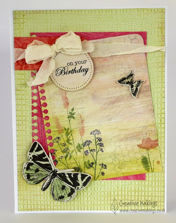 Die cutting embossing Notebook page with Stamping
