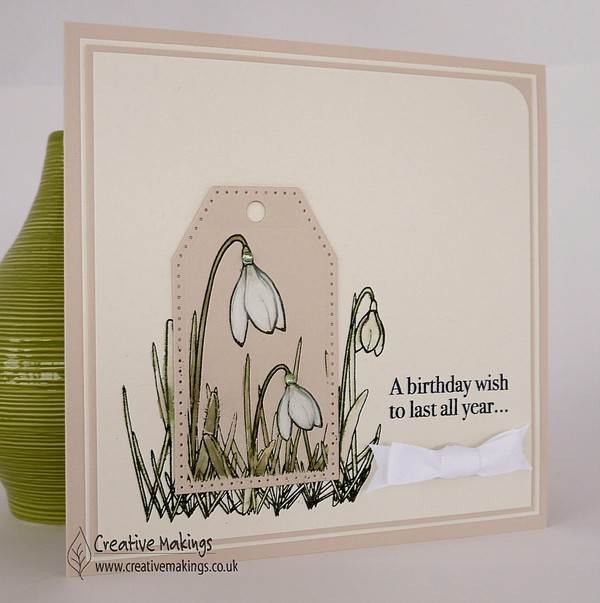 Creative Expressions Snowdrop Birthday Wish