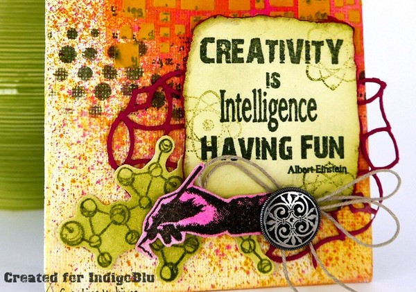Creativity Is……. In the Chemistry Lab with IndigoBlu