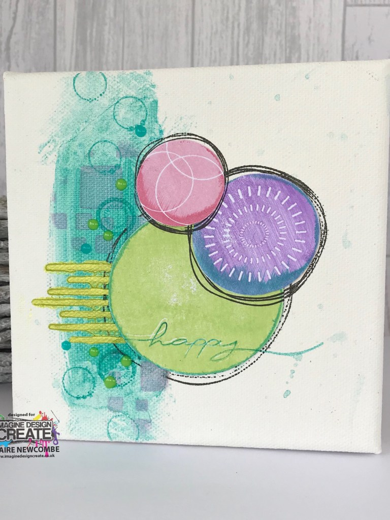 Mixed Media artwork using new Nesting Stamps at Imagine Design Create