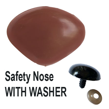 Brown Safety Nose with Washer