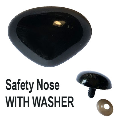 Black Safety Nose with Washer