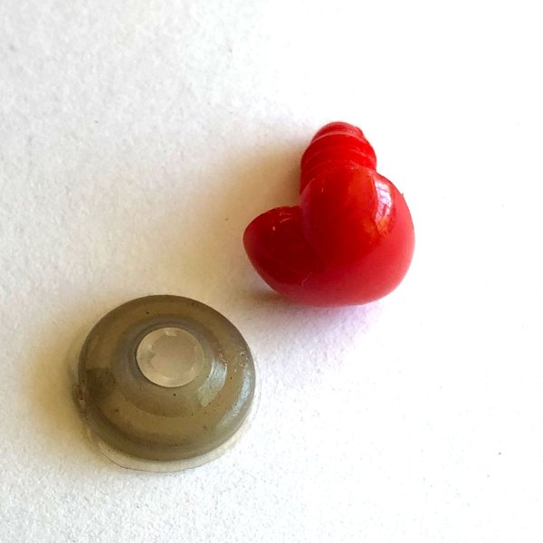 Red Safety Heart With Washer 12mm