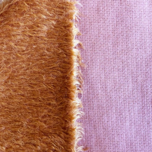18mm Russet Feathered Mohair