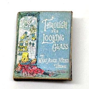 Through the Looking Glass Miniature Book Lewis Carol Dollhouse