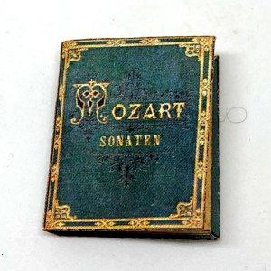 Mozart Sonatas Miniature Book Dollhouse Sheet Music