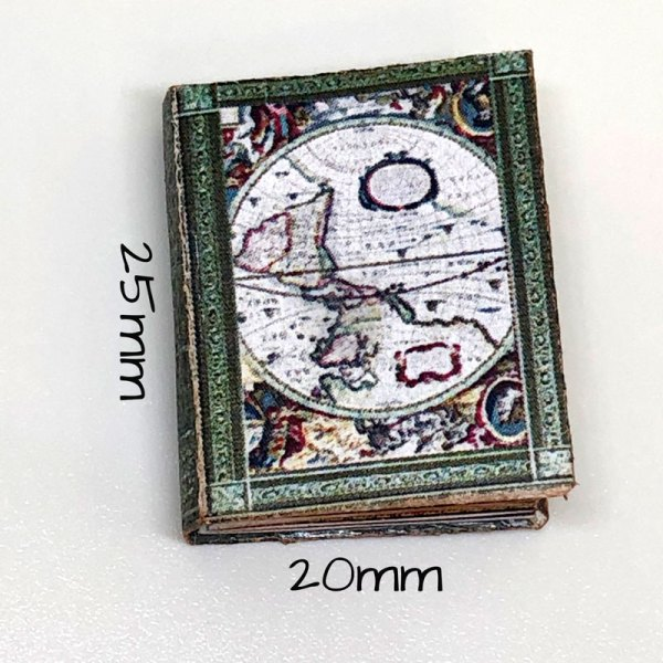 Ancient Maps Miniature Book for Dollhouse