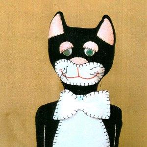 Cat Doorstop Felt Pattern Easy to Sew