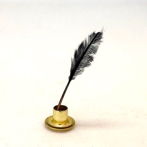 Dollhouse Miniature Quill Pen in Ink Stand 1:12 Scale