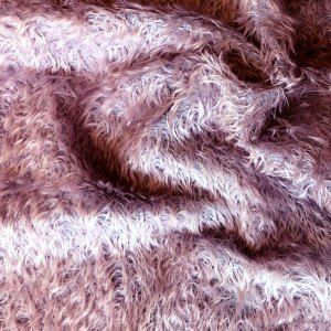 18mm Lavender Feathered Mohair for Teddy Bear Making