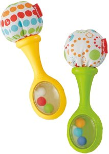4. Fisher-Price Rattle and Rock Maracas Musical Toy