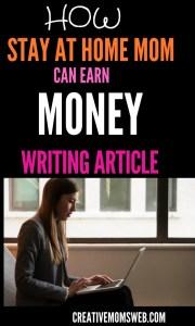earn money writing articles