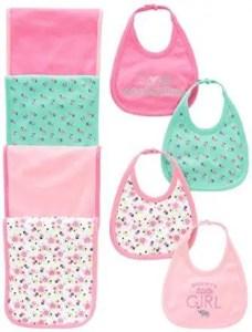baby girl bibs with burp cloths