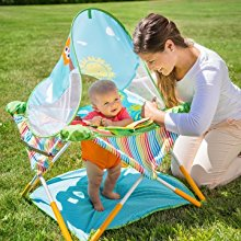 Portable baby activity center