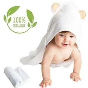 Organic bamboo baby hooded towel