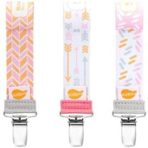 Baby girl pacifier clip