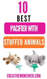 Pacifier with stuffed animal