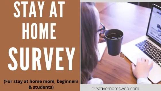 online surveys job for stay at home moms