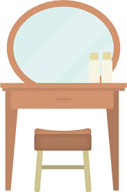 Dressing table as a working desk