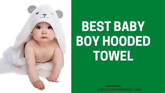 Baby boy hooded towel