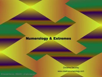 Numerology and Extremes