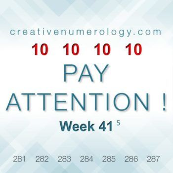 WEEK 41 – PAY ATTENTION!