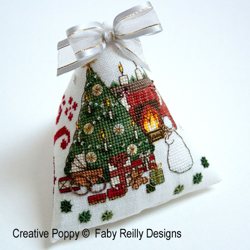 Faby Reilly Designs Victorian Christmas Ornament Cross