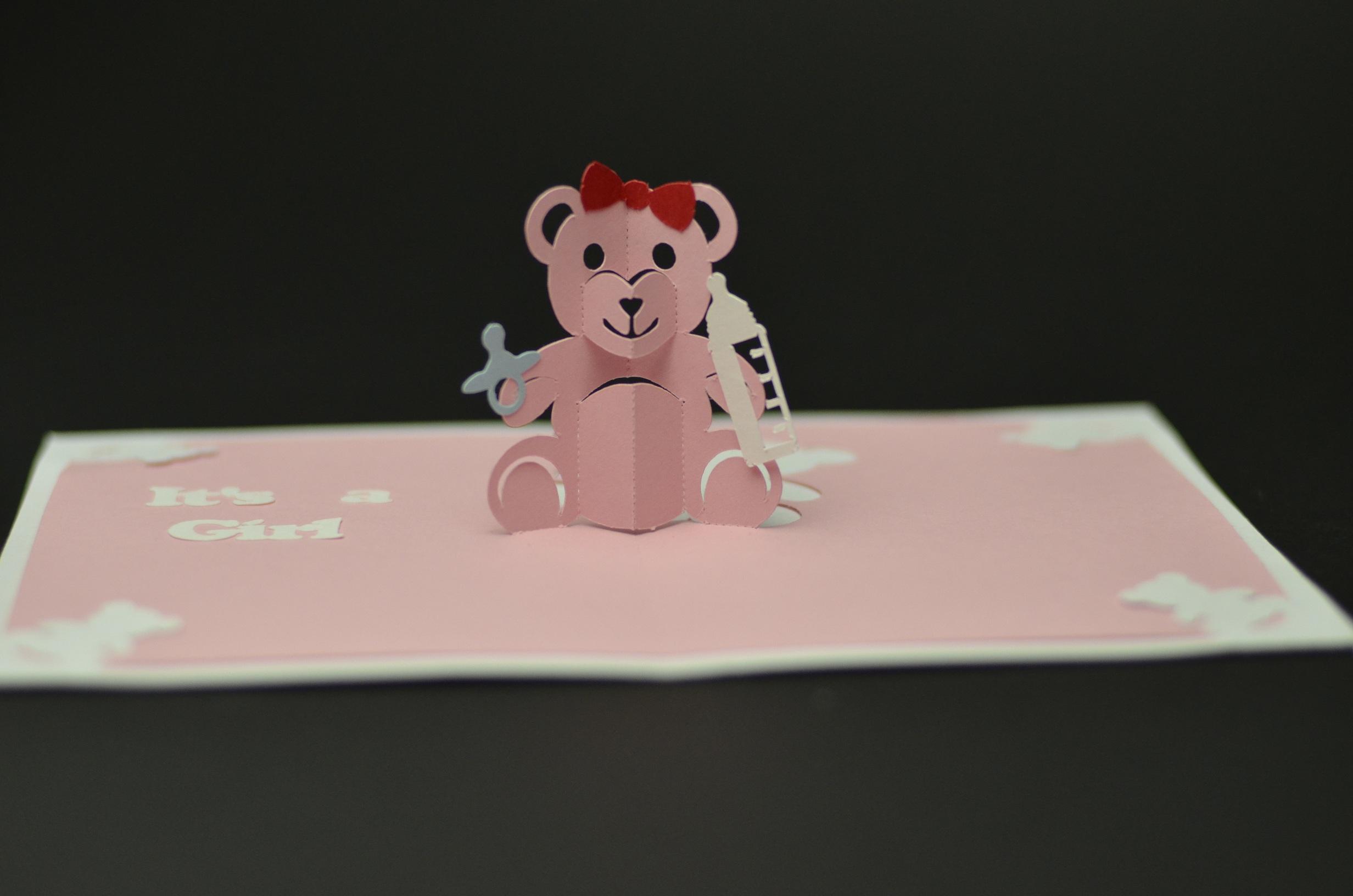 Teddy Bear Pop Up Card Template