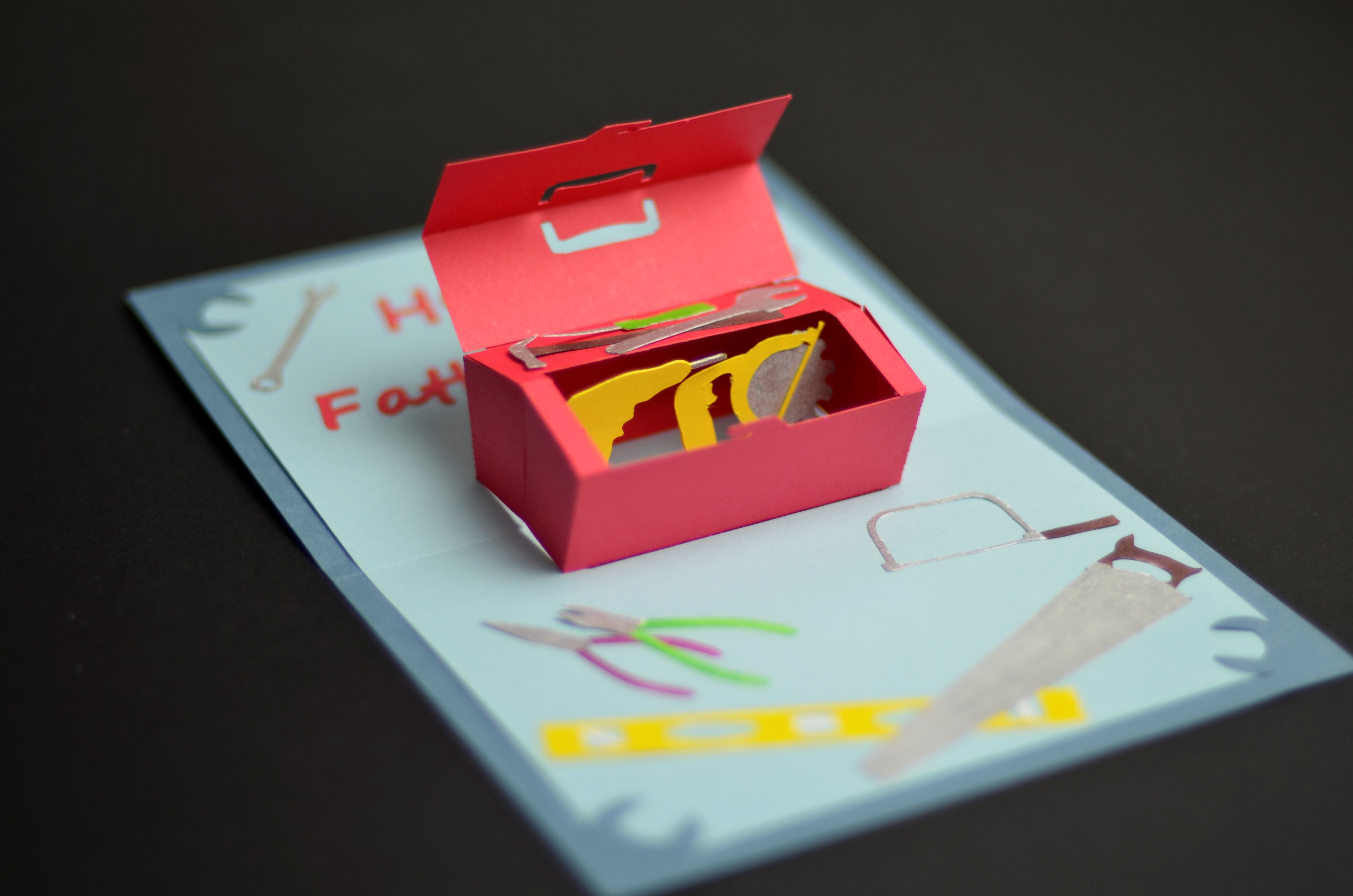 How To Make A Fathers Day Toolbox Pop Up Card Creative