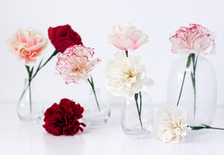Paper Carnation Flower  Collection Of The Best Handmade DIY     Paper Carnation Flower