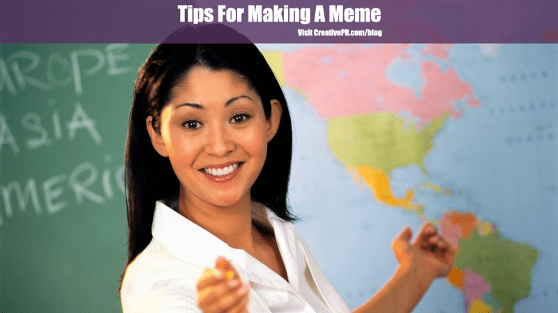 Photo of geography teacher for Tips For Making A Meme post